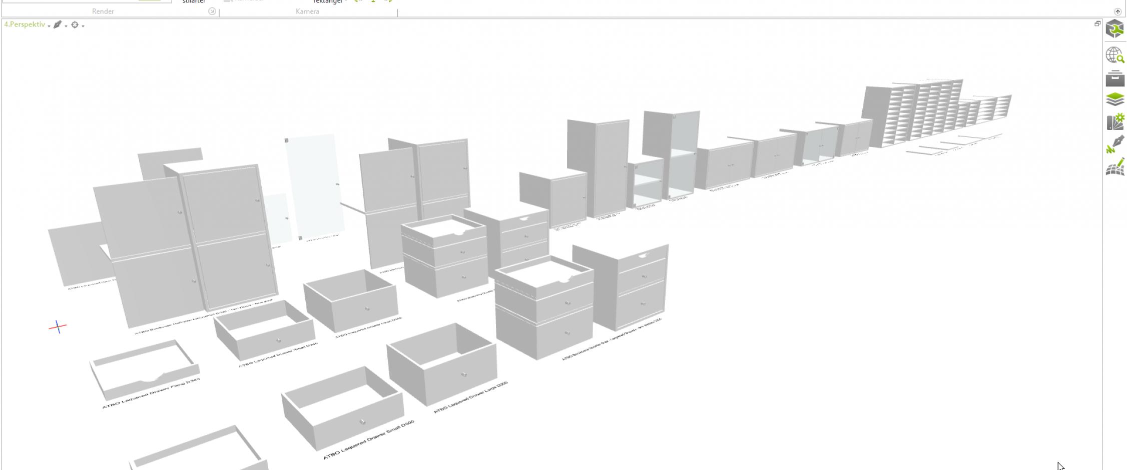 3dimensioner pcon planner 3D cad model for ATBO Malede Reoler Polar hvid