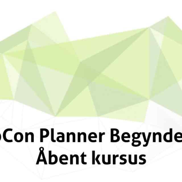 pCon Planner Begynder Åbent Kursus